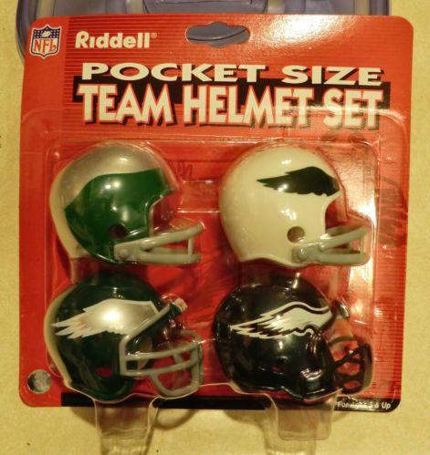 Riddell Philadelphia Eagles Team Helmet Set Pocket Pro Throwback Super RARE   499f7a9b7