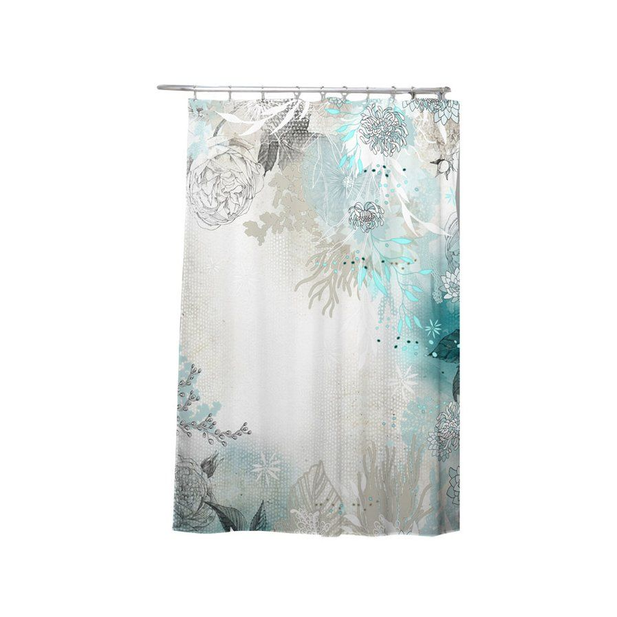 Holley Seafoam Shower Curtain Curtains Contemporary Shower
