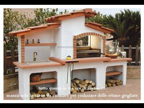Camino Esterni Fai Da Te : Come costruire un barbecue completo di lavandino da esterno e