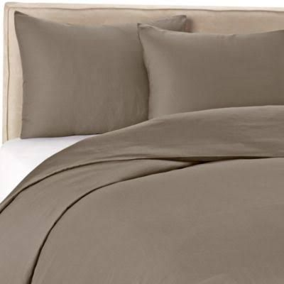Wamsutta 400 Thread Count Solid Full Queen Duvet Cover Set In Grey Gray Bedroom Duvet Cover Affordable Bedding Sets Duvet Cover Sets