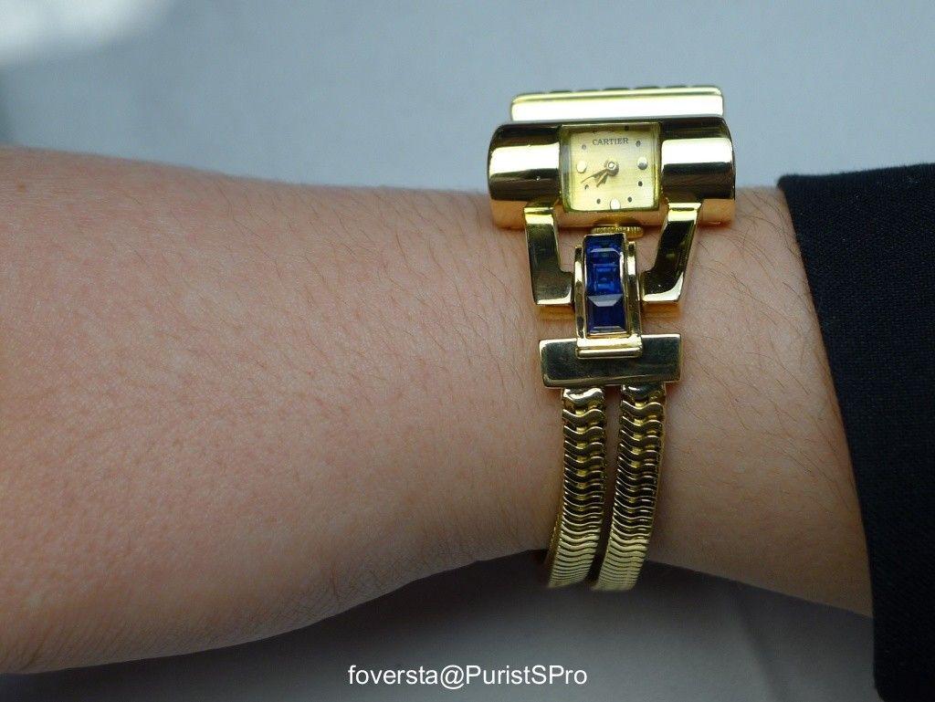 "cartier - A rare piece: the CARTIER ""Cylinder"" Bracelet Watch from the 40s"