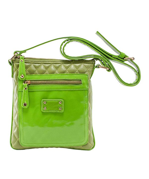 Look at this Green Emet Crossbody Bag on #zulily today!