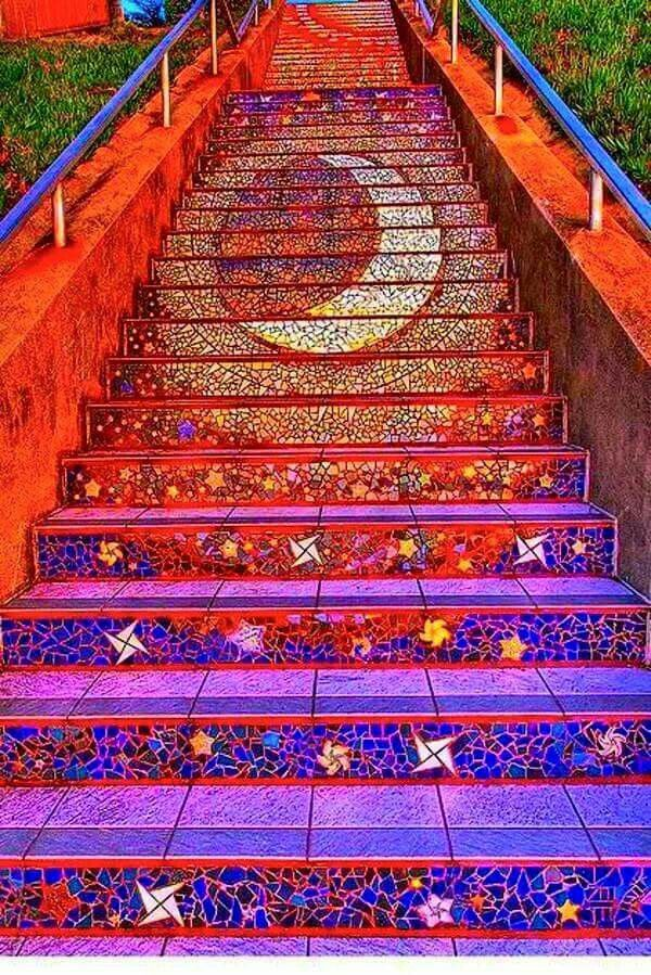 Elegant Painted Stair Art