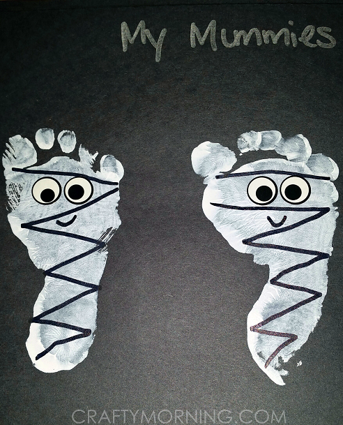 Footprint Mummies (Kids Halloween Craft) - Crafty Morning