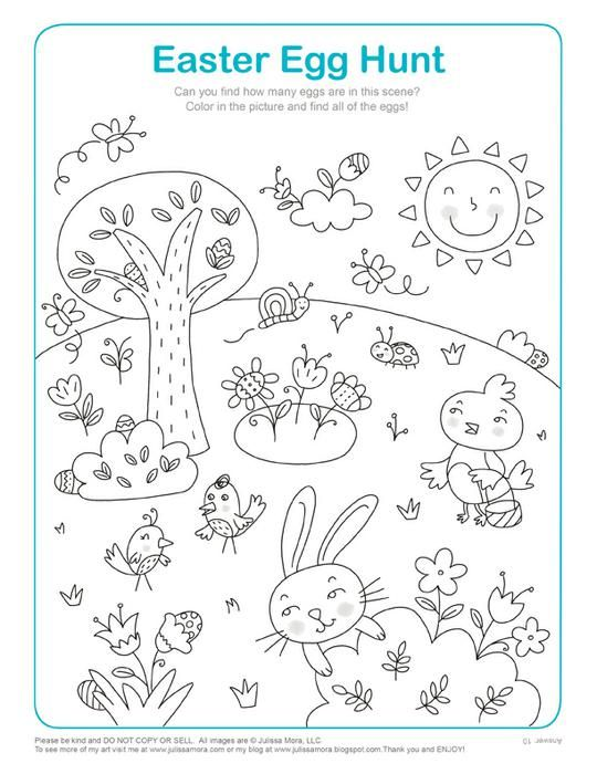 Easter Egg Hunt Math Activity Coloring Page Math activities
