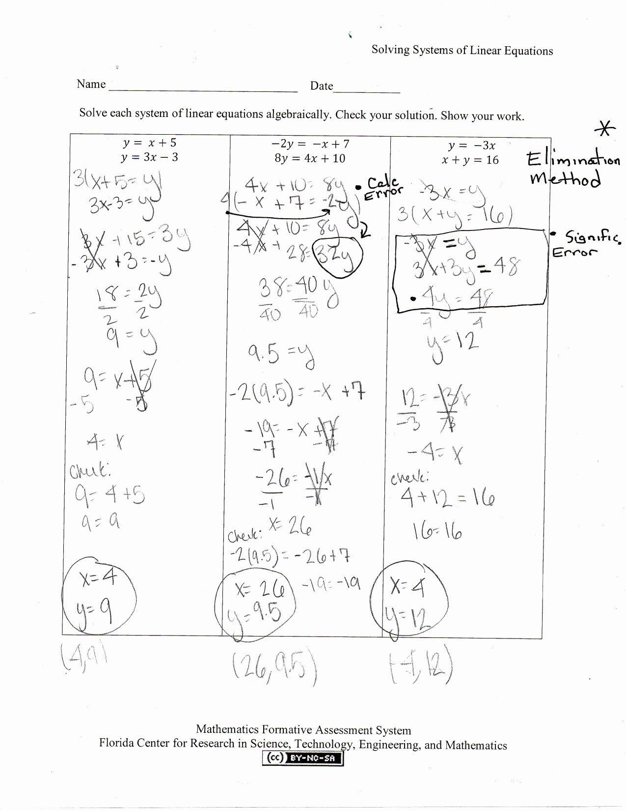 Solving Linear Equations And Inequalities Worksheet