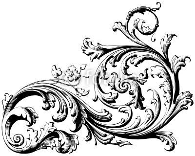 filigree drawing floral scroll from aves royalty free vector rh pinterest com filigree victorian moldings filigree vector corner