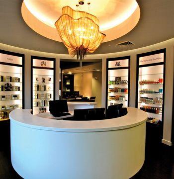 Ideal front desk  retail area Client Reception Area Design