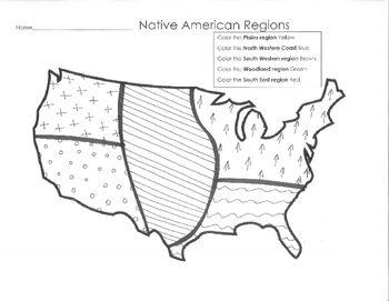 Native American Regions Map Homeschool American History - Blank map of us regions