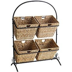 Rack with Baskets