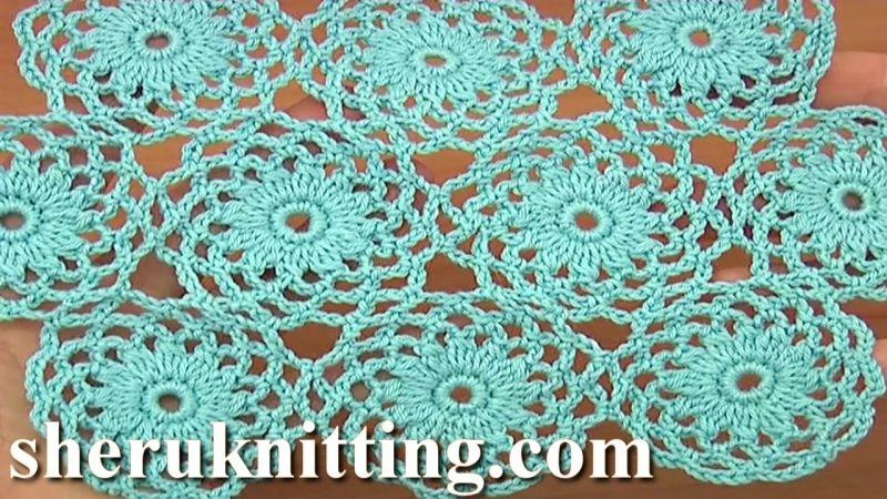 Joining Crochet Mesh Circle Tutorial 10 Part 2 of 2