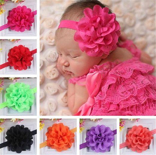 flower headband baby shower gift vintage headbands 1-6m Baby girl headbands headband