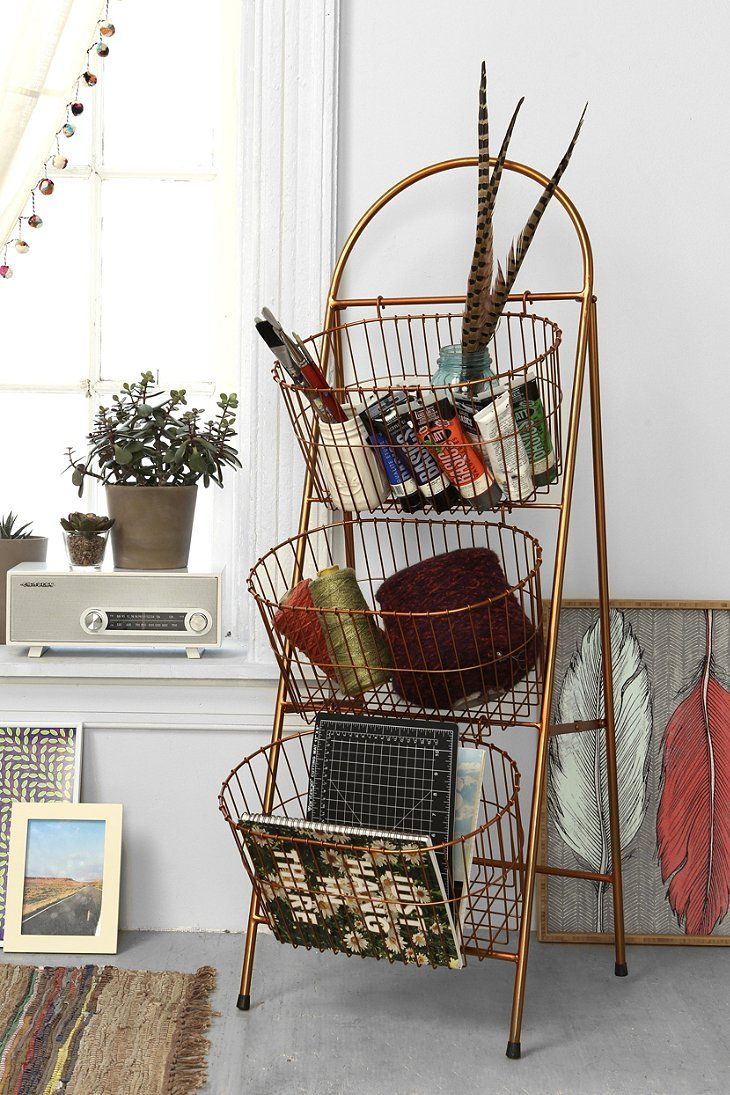 Ladder Storage Basket Urban Outfitters Decor Ladder Storage Basket Shelves