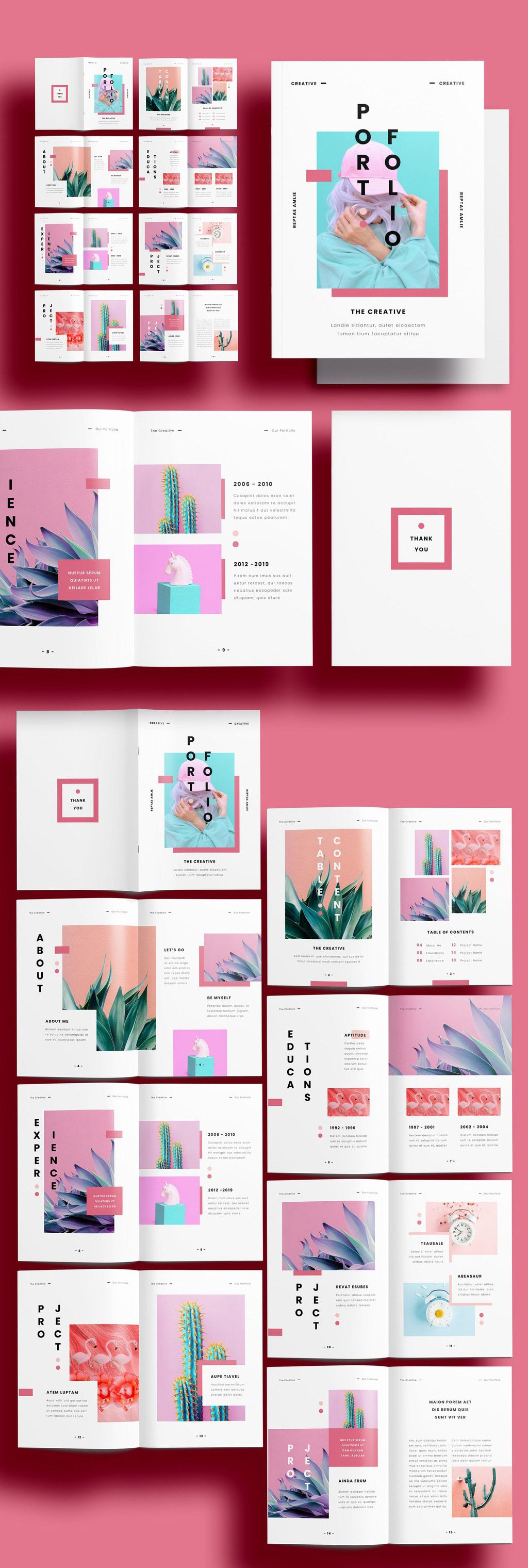A Unique Portfolio Template for Adobe InDesign