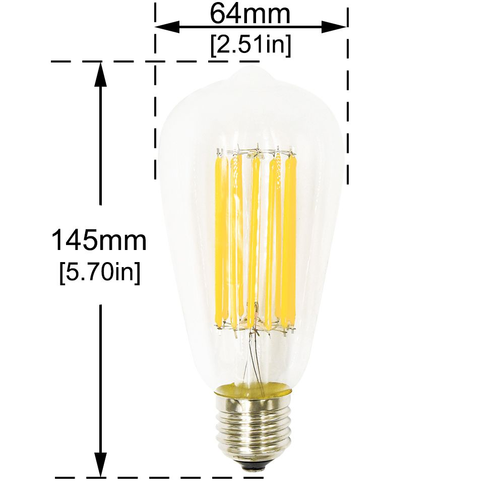 Stariver St64 St21 Led Filament Light Edison Bulb 12w Natural White 4000k E26 Medium Base Incandescent Lamp 12 Vintage Light Bulbs Led Light Bulb Light Bulb