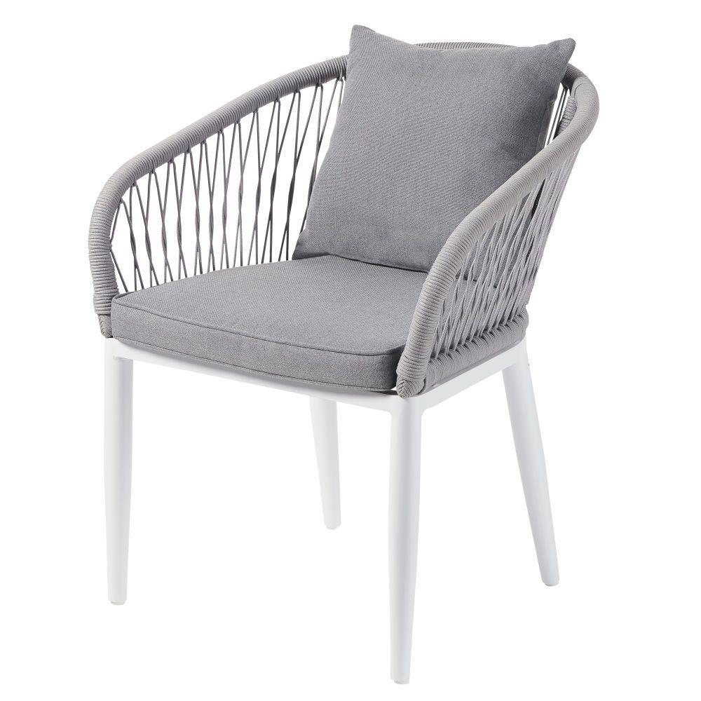 fauteuil de jardin en corde tressee