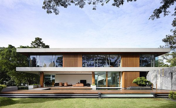 An Ageless Modern Architectural Design Of 65btp House In Singapore Home Design Lover House Architecture Design Architecture Modern House Exterior