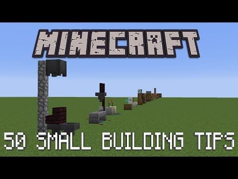 50 Small Building Tricks In Minecraft   YouTube