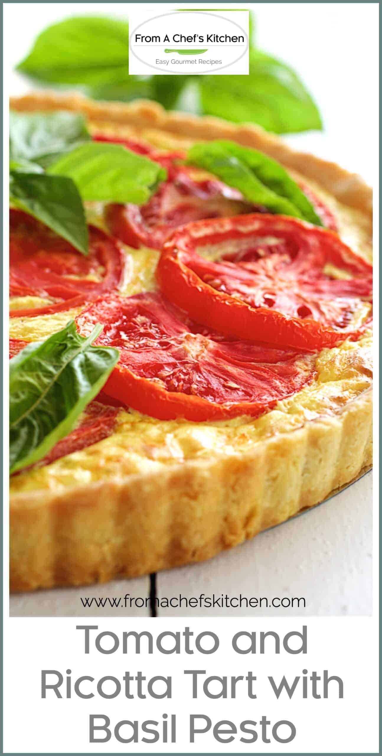 Photo of Tomato Ricotta Tart with Basil Pesto