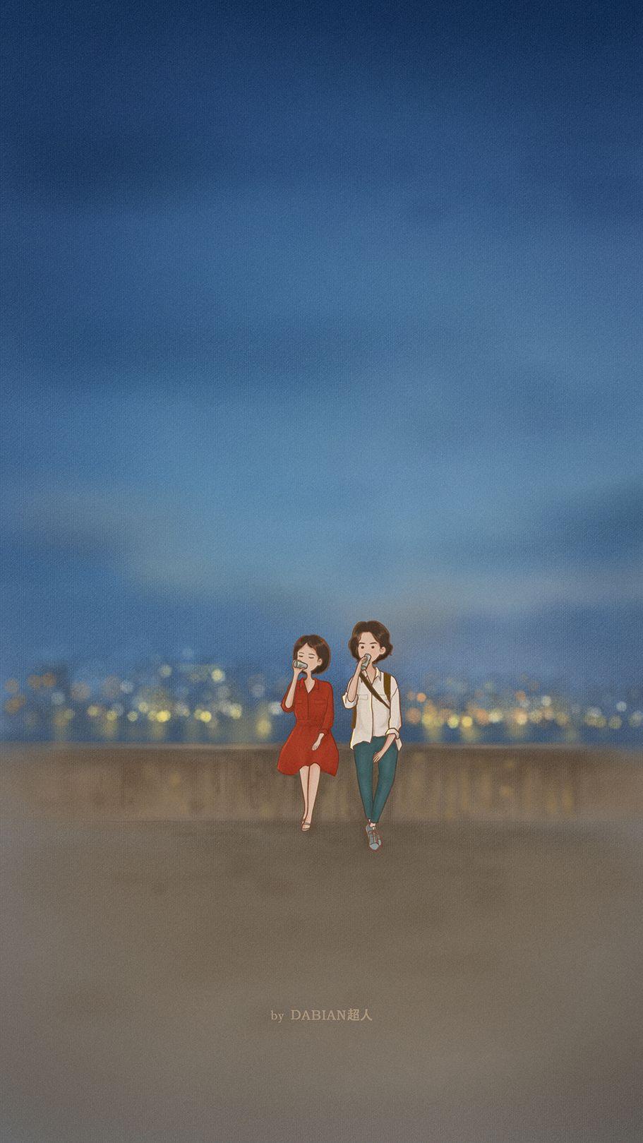 Pin Oleh Tae Di Wallpaper Ilustrasi Lucu Kartun Gambar