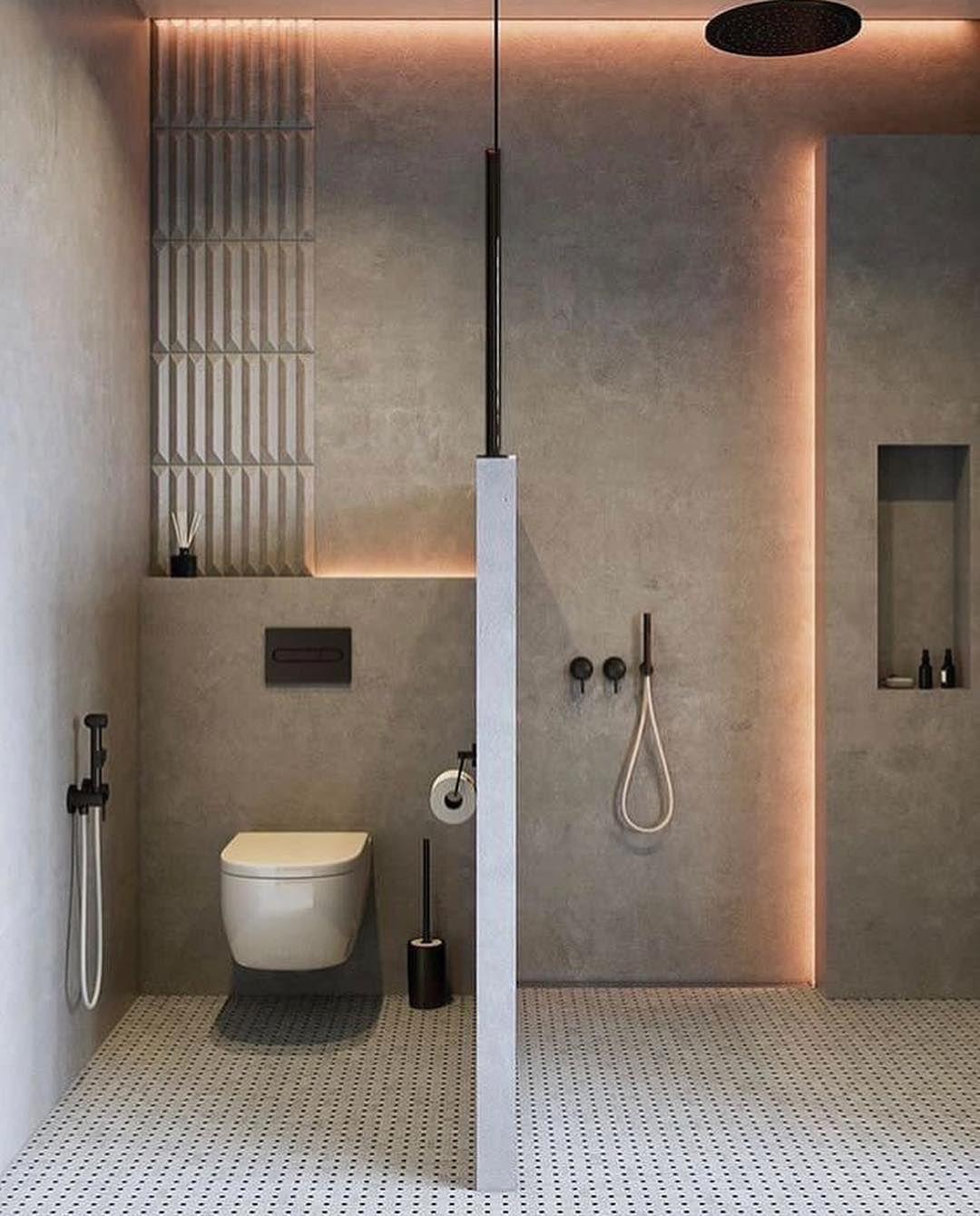 Furdoszoba Lakberendezes Modern Bathroom Minimalist Bathroom Modern Bathroom Design Minimalist bathroom lamp design