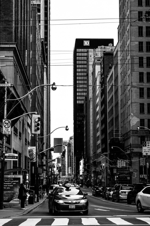 Toronto Print, Black and White Wall Art, Urban City