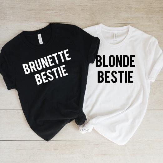120c9ff9 Blonde Bestie Brunette Bestie Shirt, Best Friend Gift, Blonde and Brunette  Best Friends, BFF Gift, B