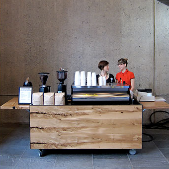 Coffee cart at the whitney museum coffee collective for Coffee cart design