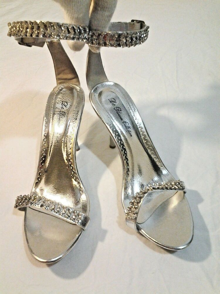 dc3a6ad8b Ladies Silver Stone Bling Rhinestone Heel Sandal Shoes Size 8 1/2 #fashion  #clothing #shoes #accessories #womensshoes #heels (ebay link)