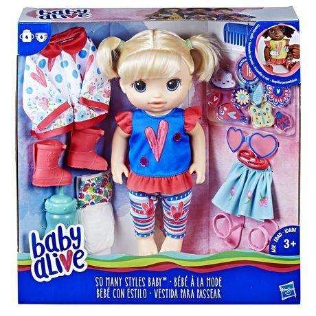 Baby Alive So Many Styles Baby Blonde Straight Hair Muneca Baby Alive Juguetes Bebe Estilo Bebe