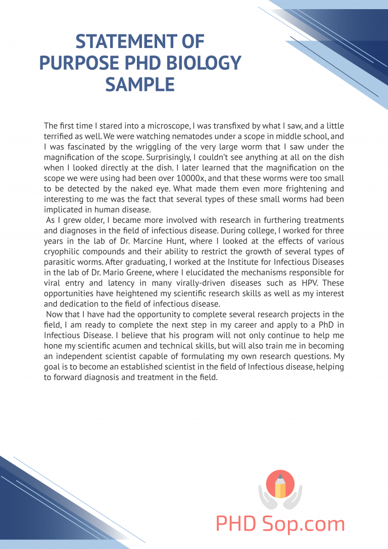 The Best Statement Of Purpose Phd Biology Writing Help Here Http Www Phdsop Com Forensic Psychology Master Personal Example