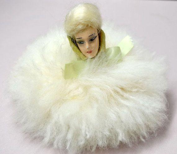 Antique Doll Face Powder Puff
