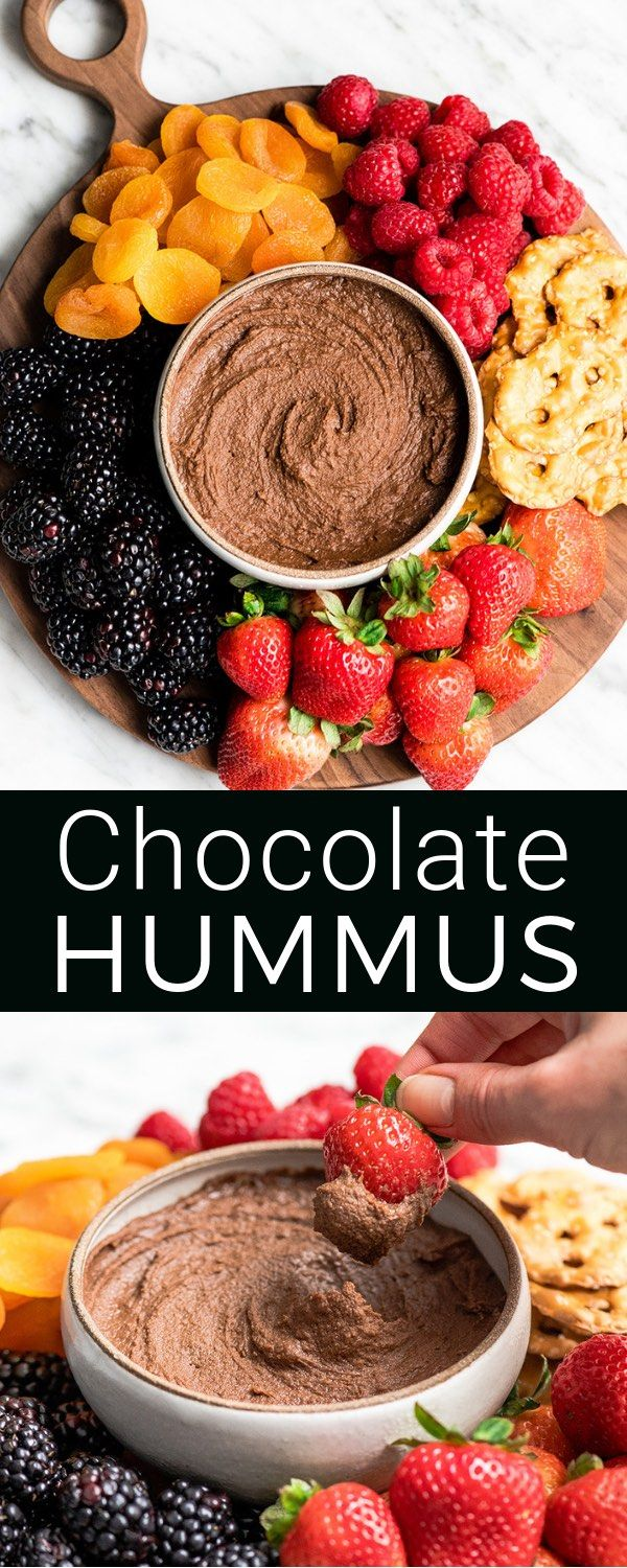 Healthy Chocolate Hummus Recipe (5 minutes)