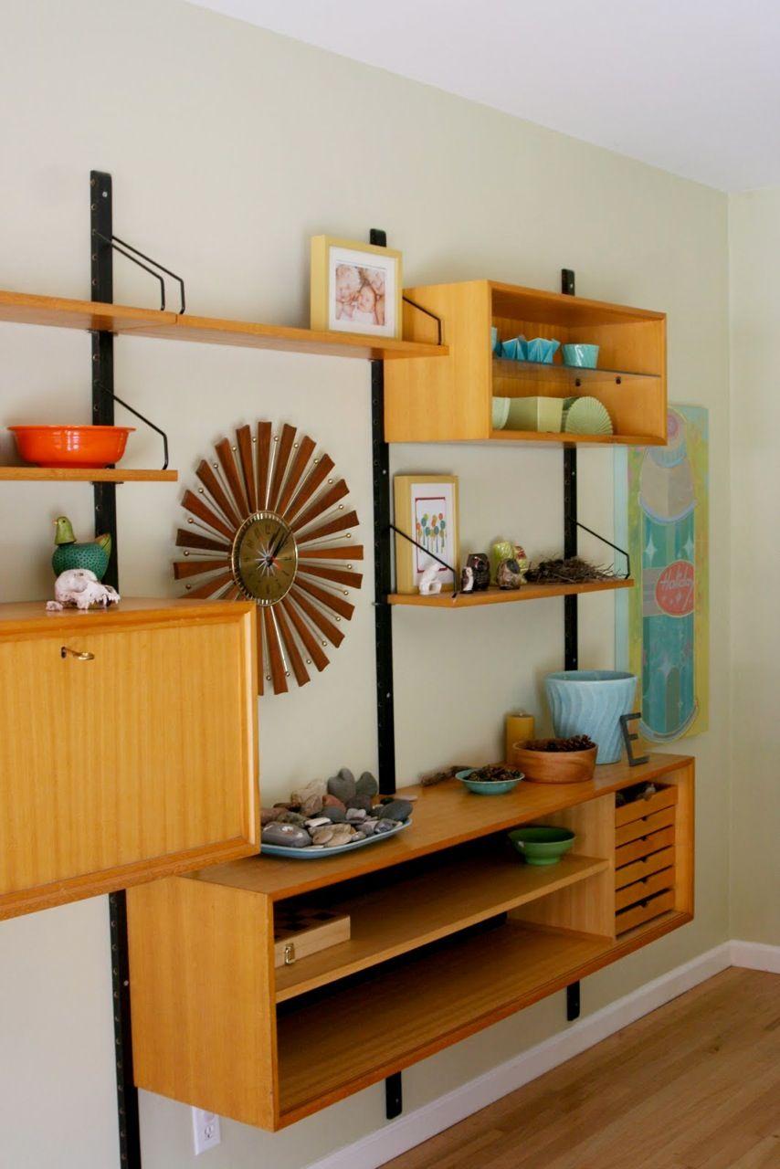 Mcm Wall Unit Mid Century Bookcase Mid Century Modern Decor
