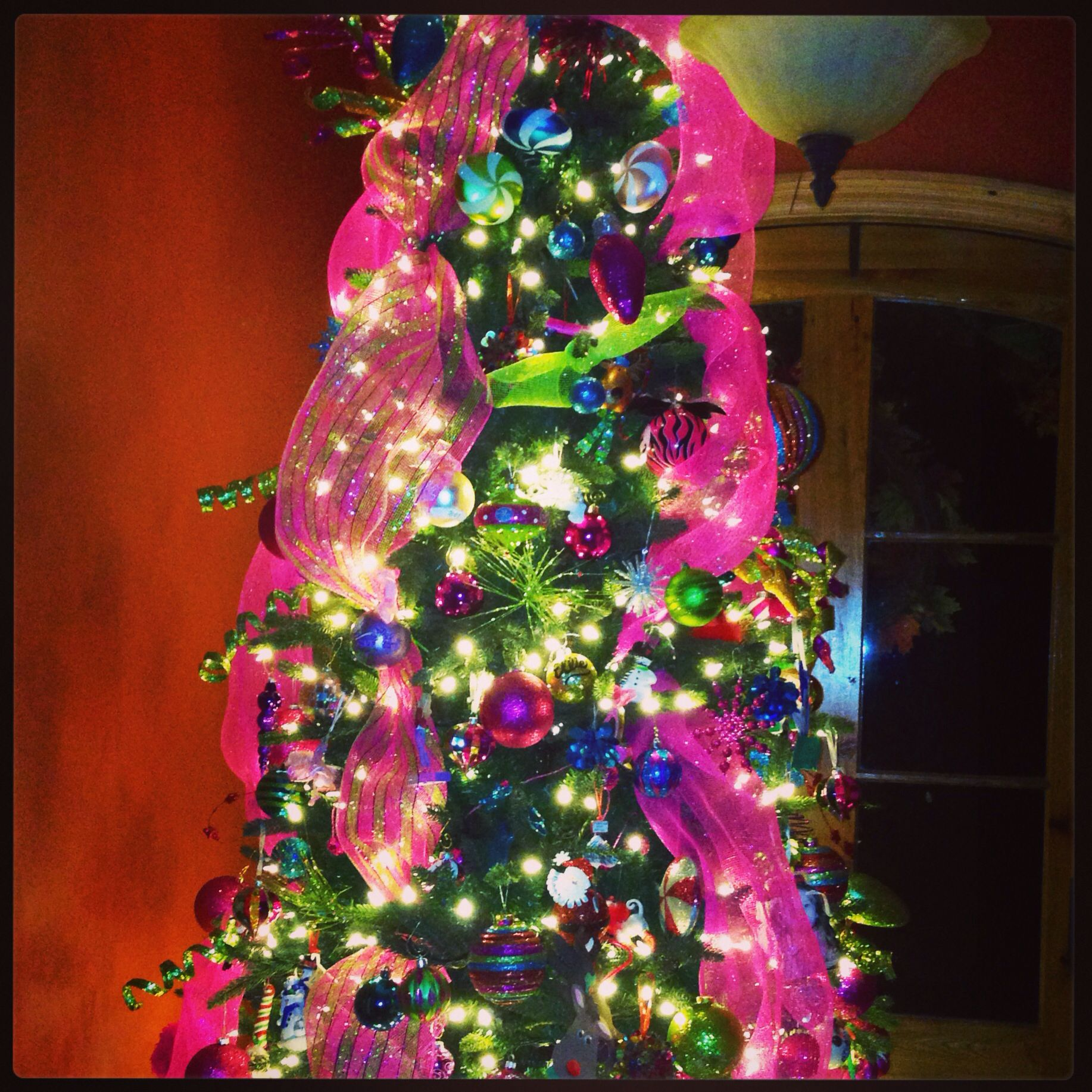 Red Turquoise Not Just For Holiday Decor: Loving My Pink, Green And Turquoise Christmas Tree