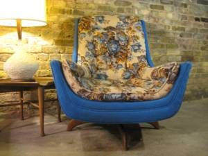 re-upholstered adrian pearsal. funky.