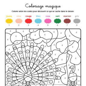 Coloriage Magique Oiseau.Coloriage Magique D Un Oiseau Avec De Belles Plumes Coloriage