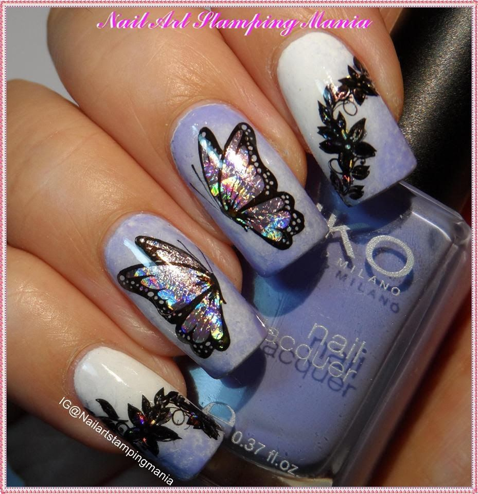 Stamping Decal With Nail Foil - Tutorial - | Nail Art- stamping ...