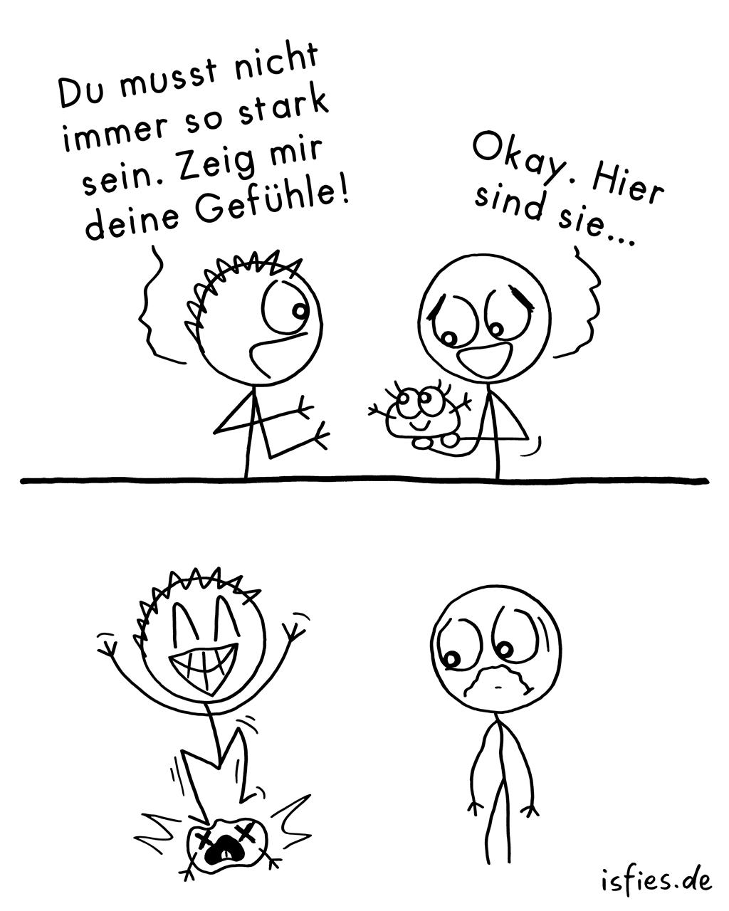 Gefühle zeigen. Is fies! | #fühlen #menschen #comic #isfies
