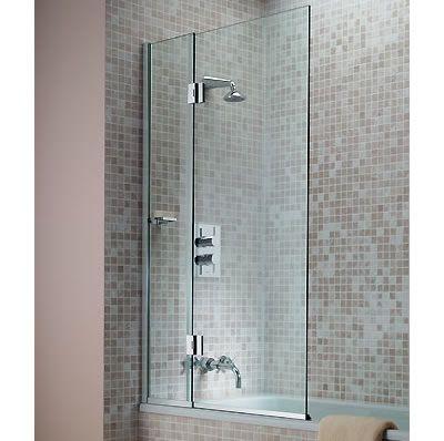 Bath screens shower bath screen over bath screen frameless bath screens folding bath for Folding shower for small bathrooms