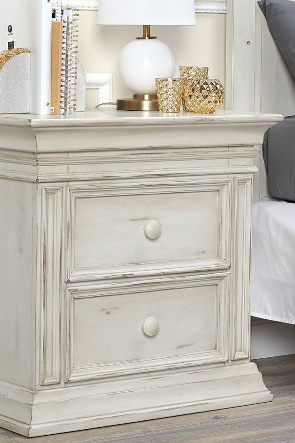 Baby Caché Vienna Nightstand In Antique White Babycache Nursery Furniture Inspo Ideas