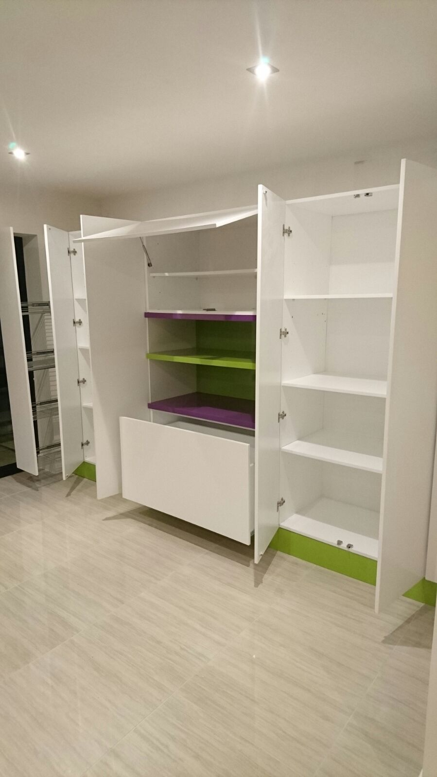 Custom made storage solutions for playroom Contemporary