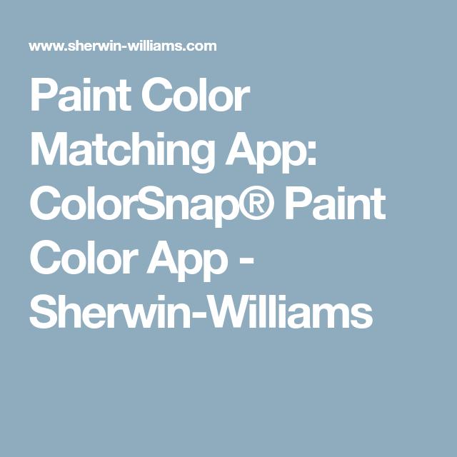 Lowes Paint App >> Paint Color Matching App Colorsnap Paint Color App