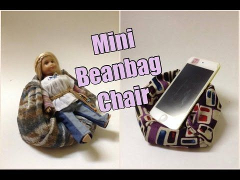 DIY Bean Bag Chair For Cell Phones Or Dolls   YouTube