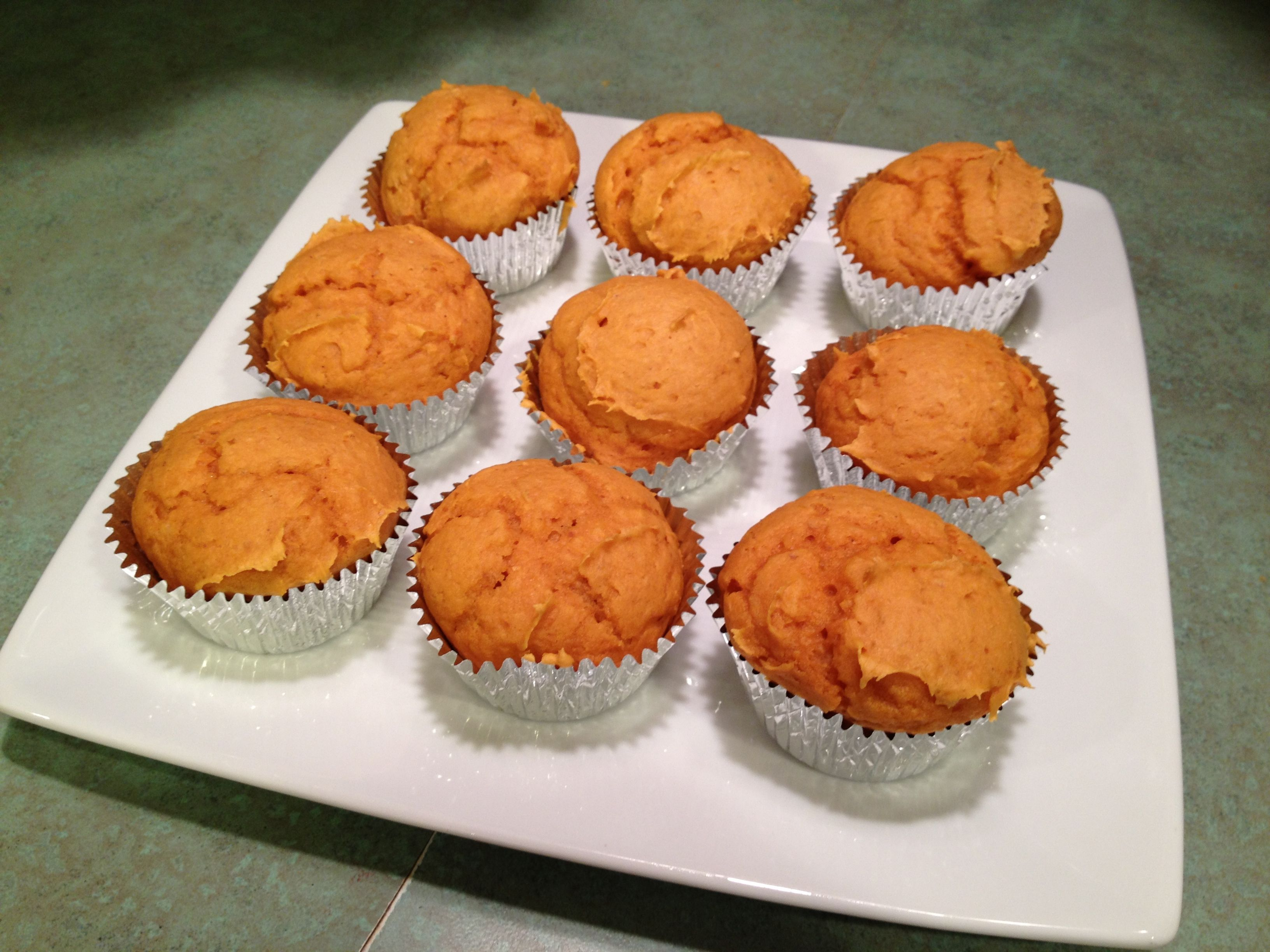 pumpkin muffins with cake mix and water