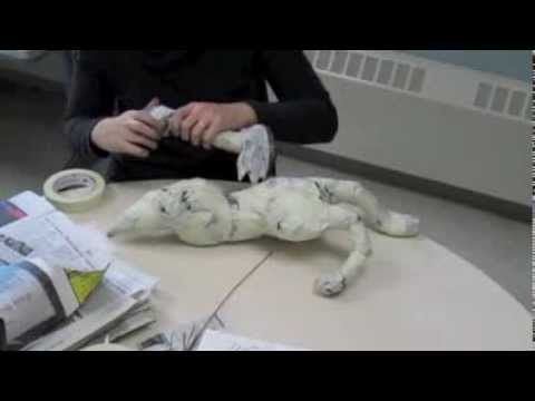 Creating an alebrije out of paper mache - step one, building an armature. This
