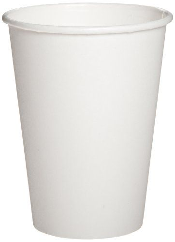 Dixie Paper Hot Cup, 8 oz Capacity, White (20 Sleeves of 50