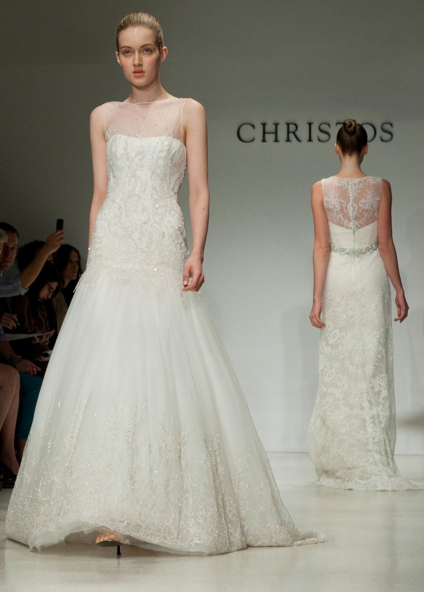 Dresses with an illusion neckline give a bride confidence that the dress will not fall down whilst dancing, but will reveal enough to make a bride feel sexy and feminine. Description from naomis23.wix.com. I searched for this on bing.com/images