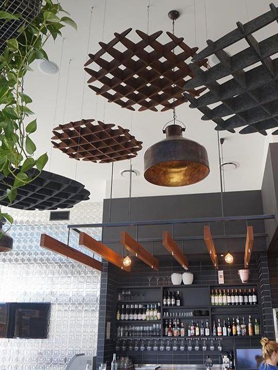 Mdc zintra unique acoustic solutions baffles ceiling for Diy clouds ceiling