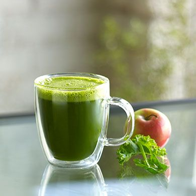 Delightful Greens: Fresh Apple Juice, Fresh Supergreens (Spinach, Kale) Fresh Ginger Juice